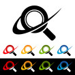 Swoosh Magnifying Glass Icons