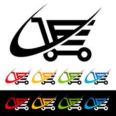 Swoosh Shopping Cart Icons