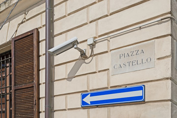 Piazza Castello sign