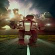 mecha war on the road