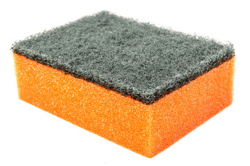 Orange kitchen sponge