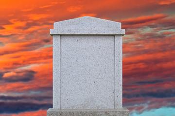 Blank gravestone ready for an inscription