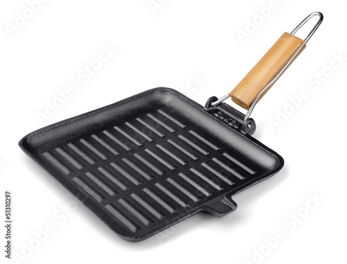 Cast iron square grill pan