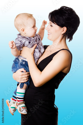 Beautiful happy mather with attractive baby boy