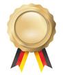 Goldenes Siegel mit Bändern schwarzrotgold