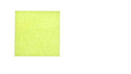 Yellow sticker isolated on white background.