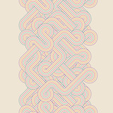 Fototapety Seamless abstract color retro border