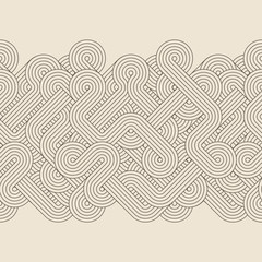 Seamless abstract retro border