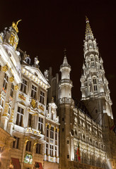 City Hall (Hotel de Ville) and Guildhalls in the Grand Place in