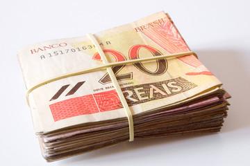 Brazilian money - 20 Reais.