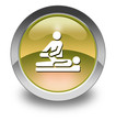 "Yellow Glossy Pictogram ""Physical Therapy"""