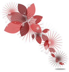 astratto vettoriale sui toni del rosa