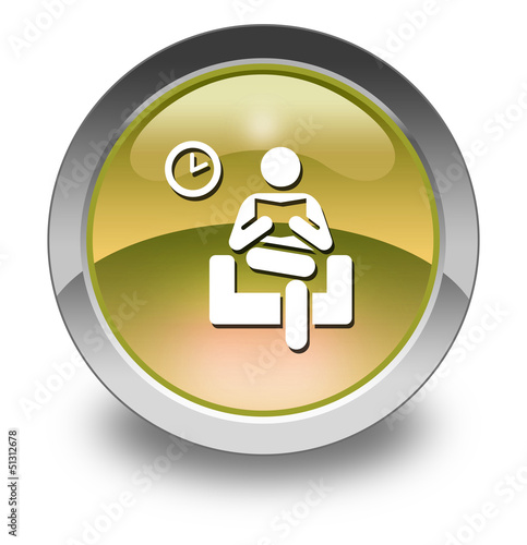 "Yellow Glossy Pictogram ""Waiting Room"""