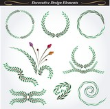 Collection of decorative design elements 11