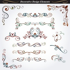 Collection of decorative design elements 04