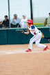Little league baseball batter