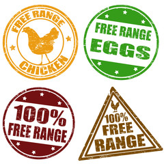 Set of free range stamps
