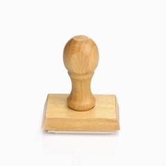 Sello de madera aislado