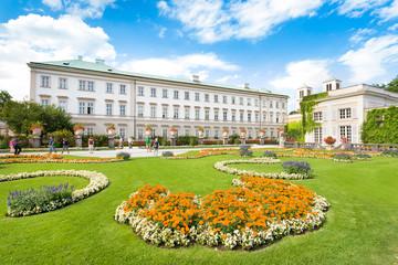 Mirabellgarten mit Schloss Mirabell in Salzburg, Österreich