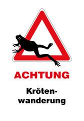 Vorsicht! Krötenwanderung