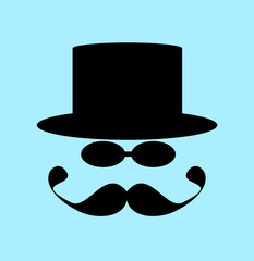 man with top hat and handlebar mustache