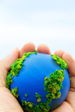 Earth in Hands ,Concept Save green planet
