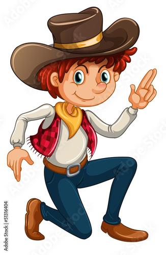 Deurstickers Boerderij A cowboy
