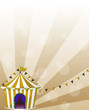 A circus tent at the carnival