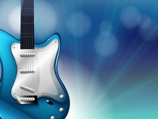 A stationery with a blue electric guitar