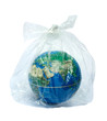 Leinwanddruck Bild - The earth in plastic bag