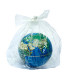 The earth in plastic bag