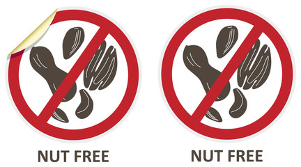 Nut Free Icons
