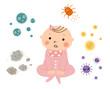 赤ちゃんとアレルゲン(女の子)