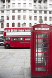 London Red Telephone Booth and Red Bus - 51319401
