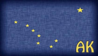 Linen flag of the US state of Alaska
