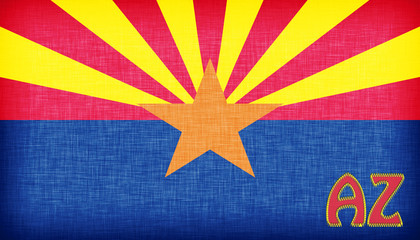 Linen flag of the US state of Arizona