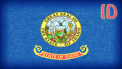Linen flag of the US state of Idaho