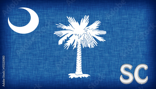 Linen flag of the US state of South Carolina