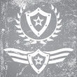 Military style grunge emblems