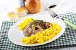 Marrowbone with saffron rice