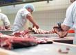 Metzger im Schlachthof // butcher in slaughterhouse