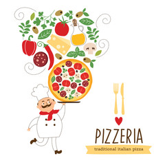 Pizza vector Illustration