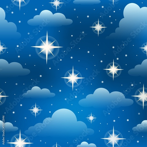 Seamless background with stars 3