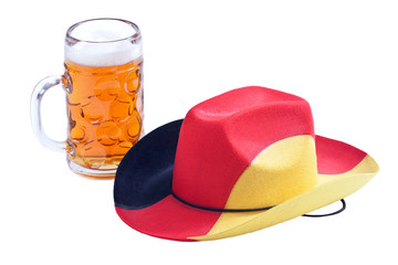 Fußball Cowboy-Hut mit Bier