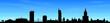 Skyline Warszawa blue sky