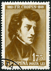 ROMANIA - 1960: shows Frederic Chopin (1810-1849)