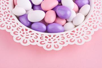 sugar coated almond chocolate candy