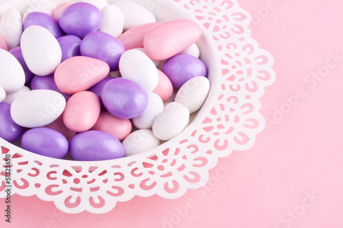 sugar coated almond chocolate candy