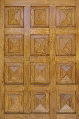 pyramidal shaped  wooden door detail