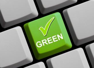 Hier ist alles grün